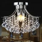Small Trumpe Crystal Chandelier Ceiling Light Pendant Lamp Lighting Fixture