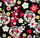 DISNEY MINNIE MOUSE CIRCLES LICENSED SEWING CRAFT QUILT FABRIC Free Oz Post