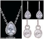 Stunning Cubic Zirconia Quality CZ Drop Fashion Bridal Bride Wedding Earrings