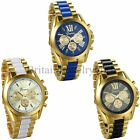 Luxury Mens Classic Stainless Steel Gold Tone Quartz Analog Bangle Wrist Watch image