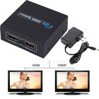 1080p HDMI to 2 Female 1 In 2 Out Splitter Amplifier Repeater Switcher Box Hub