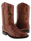 Mens Alligator Design Rust Brown Western Leather Cowboy Boots Rodeo Roper