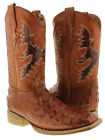 El Presidente - Men's Cognac Crocodile Alligator Back Cut Natural Sole Square