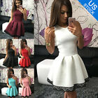 Women Sleeveless Skirt Dress Ladies Evening Party Mini Skater Sexy Dress
