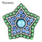 Snap Charms Vocheng 18mm Star Filled 2 Colors Bead Chunk Button Vn-1114