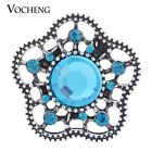 Snap Charms Vocheng 18mm Hollow out Blossom 4 Colors Snap Jewelry Vn-1142