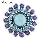 20PCS/Lot Vocheng 18mm Interchangeable Jewelry 2 Colors Bead Button Vn-1078*20