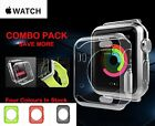 Apple Watch Case Cover, 4 Colours Anti-Scratches Soft 38/42MM + Screen Protector