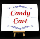 Red And Blue Wedding Candy Cart Metal Plaque Sign