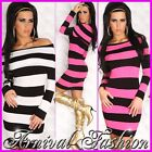 NEW SEXY WOMENS DESIGNER JUMPER DRESS 6 8 10 12 14 HOT LADIES CASUAL SWEATER TOP