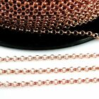 Rose Gold Plated Sterling Silver Chain- 2mm Rolo Chain - Unfinished Bulk Chain