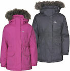 Trespass Gizella Girls Insulated Waterproof Parka Jacket Flint & Bubblegum