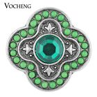20PCS/Lot Wholesale Vocheng 2 Colors Metal Button 18mm Snap Jewelry Vn-1118*20