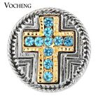 20PCS/Lot Cross Snap Charms Wholesale Vocheng Button Chunk Vn-1121*20