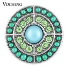 20PCS/Lot Wholesale Vocheng 18mm Bead Rhinestone 2 Colors Button Snap Vn-1122*20