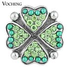 20PCS/Lot Wholesale Vocheng Four Hearts Snap 18mm Lucky Button Vn-1128*20