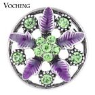 20PCS/Lot Wholesale Vocheng Snap Crystal 18mm Blossom Button Vn-1130*20