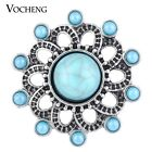 20PCS/Lot Wholesale Vocheng Blue Bead 18mm Interchangeable Snap ButtonVn-1131*20