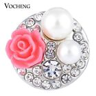 20PCS/Lot Wholesale Vocheng 18mm Pearl Garden Snap Charm Jewelry Vn-1132*20