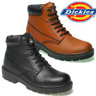 MENS DICKIES ANTRIM LEATHER SAFETY BOOTS STEEL TOE CAP WORK ANKLE SHOES SZ 6-13