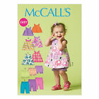McCalls 6912 Baby Girls Top Dress Bloomers Pants Trousers Sewing Pattern M6912