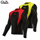 Mens Compression Armour Base Layer Skin Fit Sports Shirt Gym Running Top