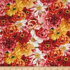 RAINBOW GARDEN FLORAL WILMINGTON 100% COTTON QUILT SEWING FABRIC *Free Oz Post