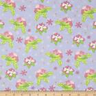 PRETTY LITTLE THINGS FLORAL MAUVE 100% COTTON QUILT SEWING FABRIC *Free Oz Post