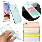Soft TPU Gel Silicone Card Slot Holder Case Cover For Samsung Galaxy S7 S7 Edge