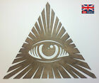 All Seeing Eye illuminati Carving Wall Hanging Art Rustic new world order