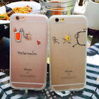 Fashion clear transparent summer drink hard phone case cover For iPhone 6/6 Plus