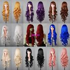 New Multicolor Womens Anime Cosplay Party Wig Long Curly Fashion Wigs 80cm/32""