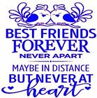 BEST FRIENDS FOREVER T-Shirt in 8 Vinyl Colors!  FREE SHIPPING