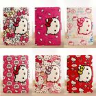 For iPad Pro 9.7 Folio Stand Leather Cover iPad Mini Air Cartoon HelloKitty Case