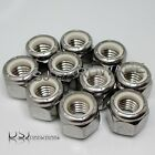 UNC - A2 Stainless Steel Hexagon Nylon Insert Nyloc Nuts.