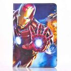 Spiderman Ironman Cartoon Case Leather Smart Cover For iPad 2 3 4 iPad Mini Air