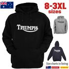 TRIUMPH Classic Logo Motorcycle Hoodie Chopper Vintage Men's Women's T-Shirts $44.95 AUD on eBay