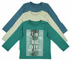 Boys Baby Pack of 3 Life in the City Long Sleeve Tops Newborn to 24 Months