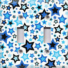 Blue & Black Stars~Light Switch Cover~ Room Decor~Choose Your Plate~