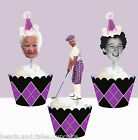 Custom Milestone 70th 80th birthday Golf Golfer sport Cupcake Toppers cup cake