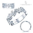 AAAAA Simulated Diamond Eternity/Engagement Ring Set In 925 Sterling Silver