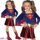 GIRLS SUPERGIRL DELUXE SUPERHERO SUPERMAN KIDS CHILD FANCY DRESS COSTUME 3-10 YR