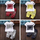 Infant Baby Boy Kid Girl Sportswear Clothes T-shirt Top +Short Pants Outfit Sets