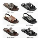 LUCINI MENS SUMMER LEATHER MULE SANDALS FOR ALL OCCASIONS NEW