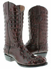 Mens Black Cherry Full Alligator Crocodile Western Cowboy Boots Round Toe