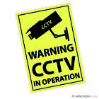 A5 SIZE CCTV IN OPERATION STICKERS/SIGNS WARNING SECURITY WATERPROOF PRINT