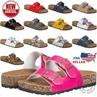 Kyпить NEW Women's Slide Buckle T-Strap Cork Footbed Platform Flip Flop Shoes Sandals на еВаy.соm