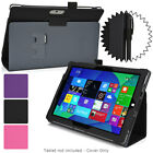 For Microsoft Surface 3 Protective Synthetic Leather Folio Folding Case Cover