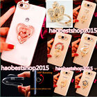 New Diamonds Finger Ring Stand Holder 360-degree Rotation Case For Huawei HTC LG