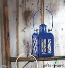 "Small MINI blue 5"" Candle Holder colonial lighthouse lantern outdoor terrace"